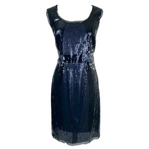 Black & Grey/Silver Sequin Cocktail Dress PartyNWT